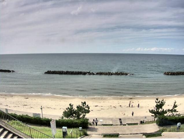 道の駅キララ多伎キララビーチ海水浴ライブカメラ(島根県出雲市多伎町)