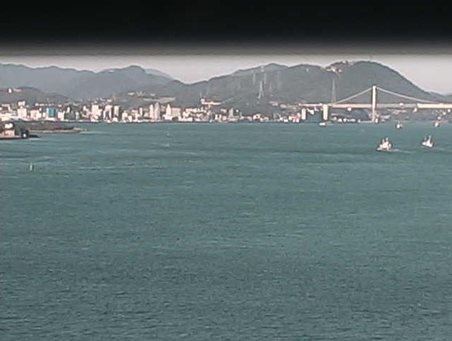 関門海峡海上交通センターから大瀬戸付近