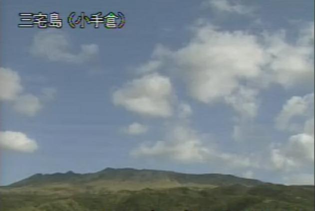 小手倉から三宅島(雄山)