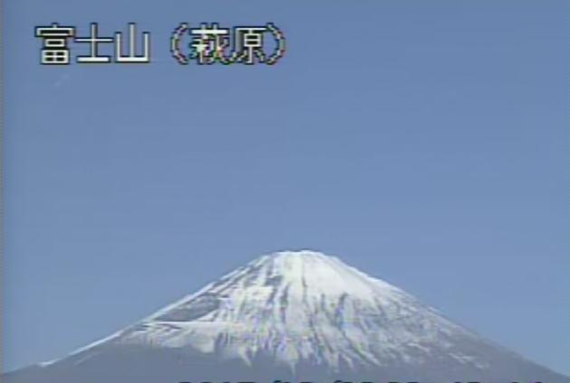 萩原から富士山