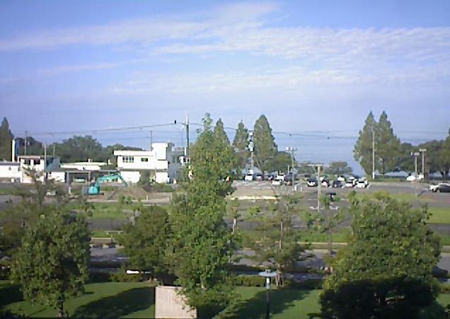 長浜バイオ大学命江館から琵琶湖