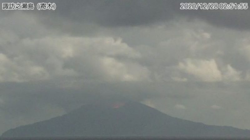 2020年12月28日 噴火発生時