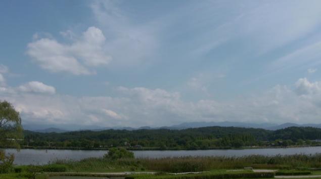 木場潟から白山