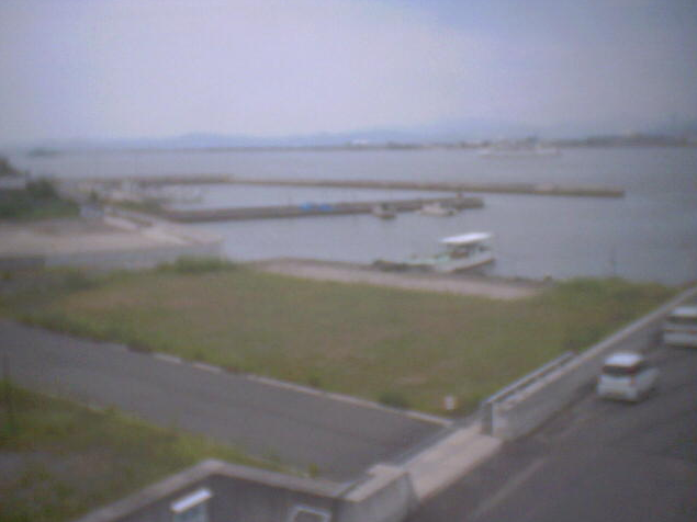 小串漁業協同組合3階から小串港・児島湾