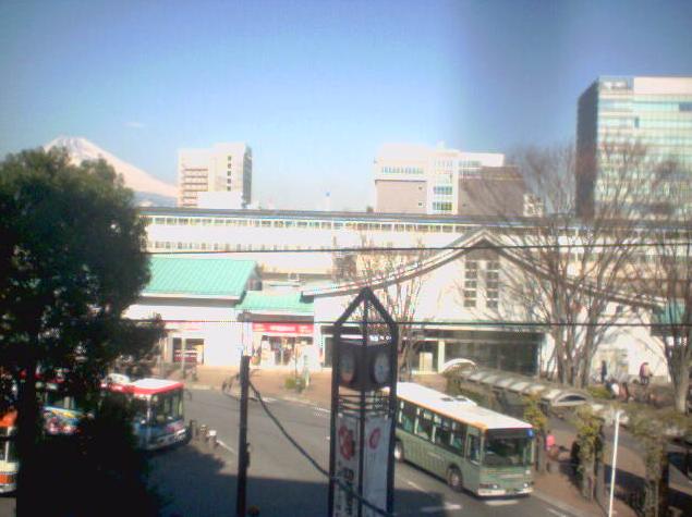 三島新聞堂ビル屋上から三島駅