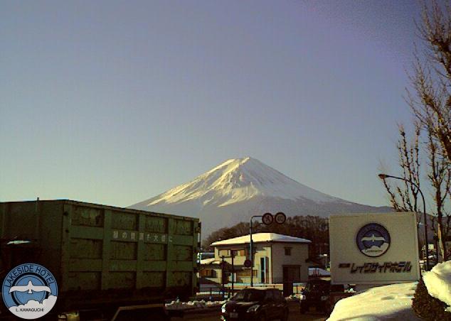 河口湖レイクサイドホテルから富士山