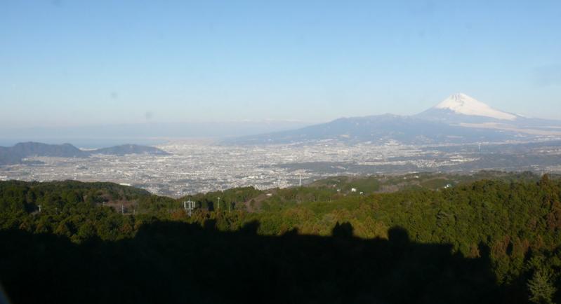 南箱根グランビューベランダから富士山