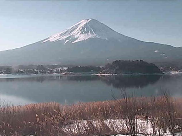 河口湖北岸から富士山・河口湖・河口湖自然生活館・ラベンダー畑