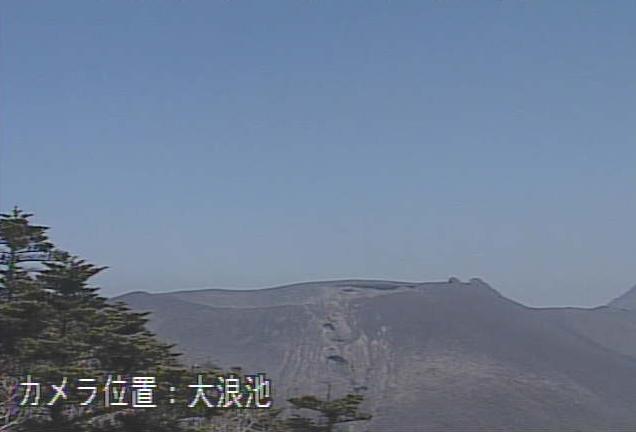大浪池から霧島山