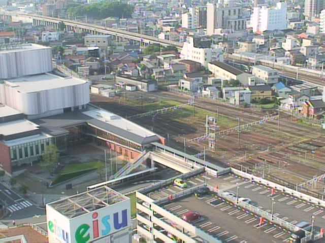 ココラフロントから東海道新幹線・東海道本線・豊川市内