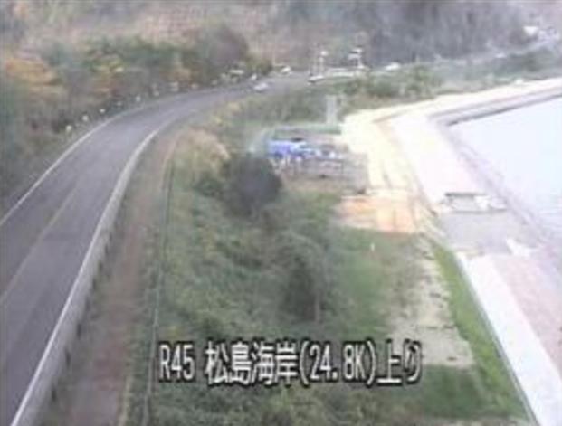 松島海岸から国道45号