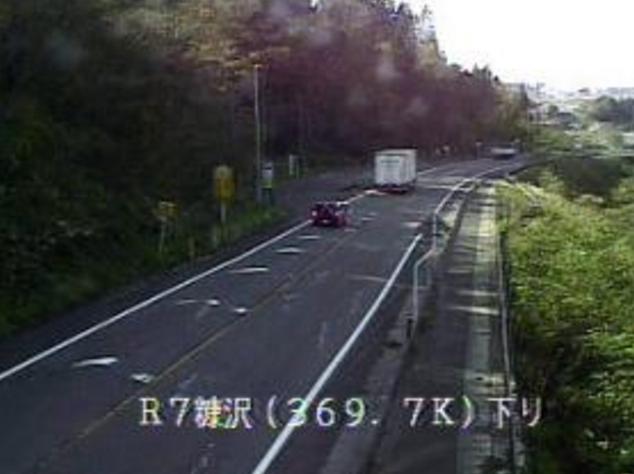 糠沢から国道7号