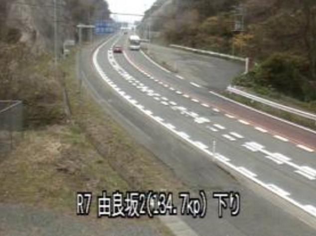 由良坂中央から国道7号