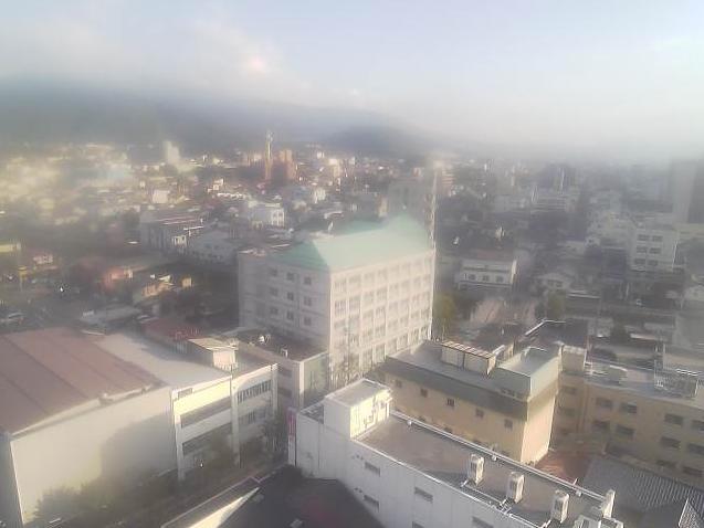 上土商店街タワー駐車場屋上から松本市内・美ヶ原・中央アルプス方面・塩尻方面