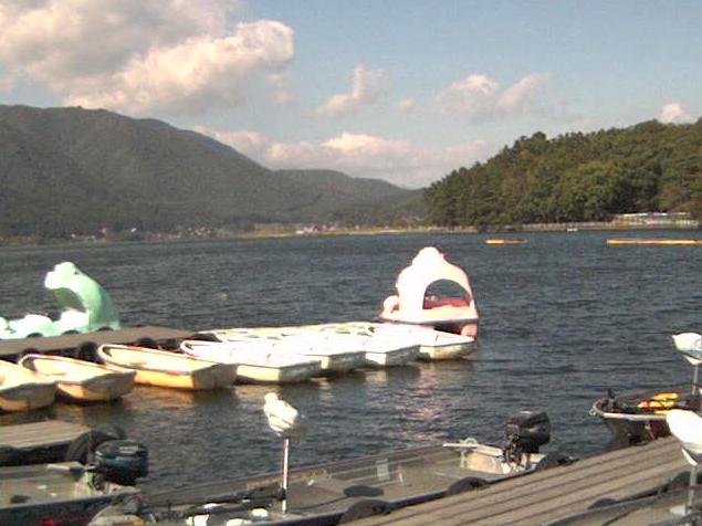 木崎湖モダンボートから木崎湖