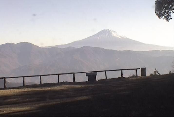 七面山山頂から富士山