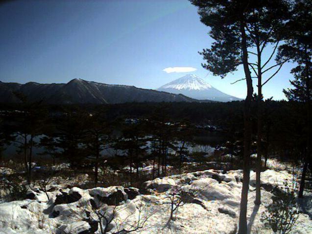 いやしの宿ひがしむらから富士山・西湖・青木ヶ原樹海