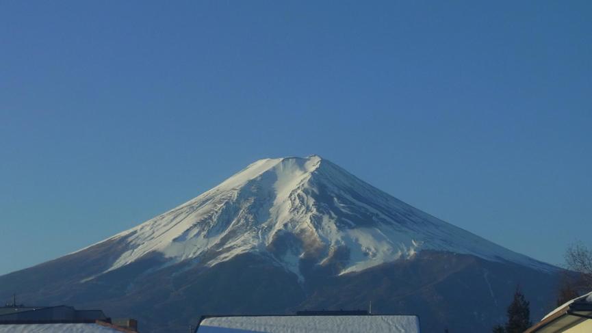 エコアズから富士山
