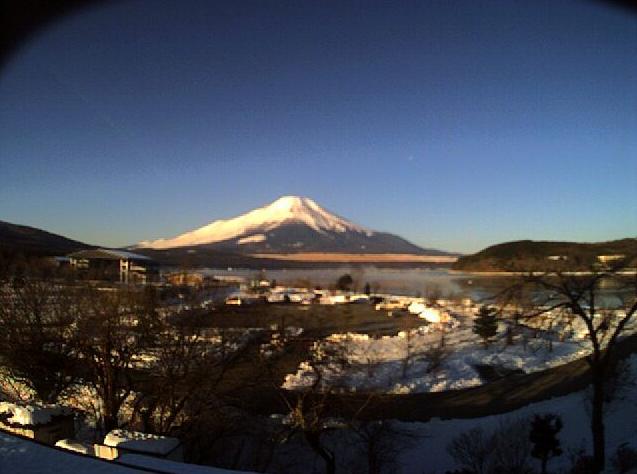 山中湖白銀荘から富士山