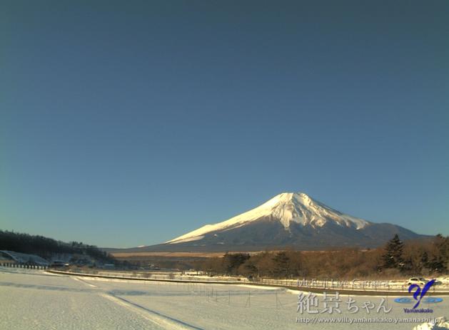 山中湖花の都公園から富士山
