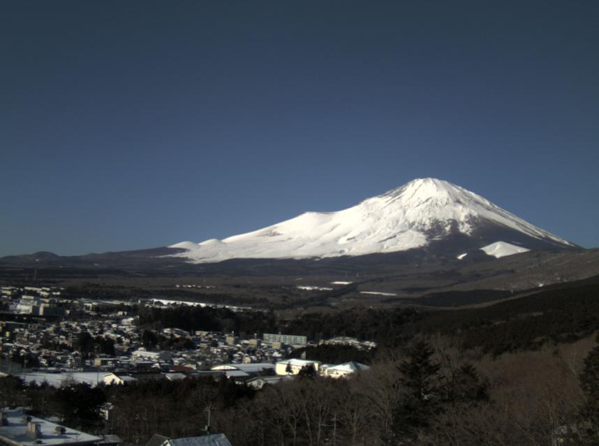 ネイチャーシネプロ富士自然観察所から富士山