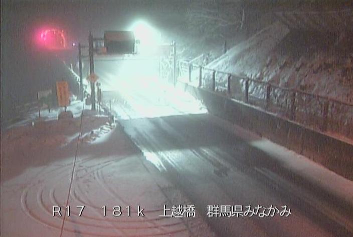 三国トンネル群馬側から国道17号(三国街道)