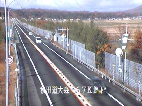 大森から秋田自動車道(秋田道)