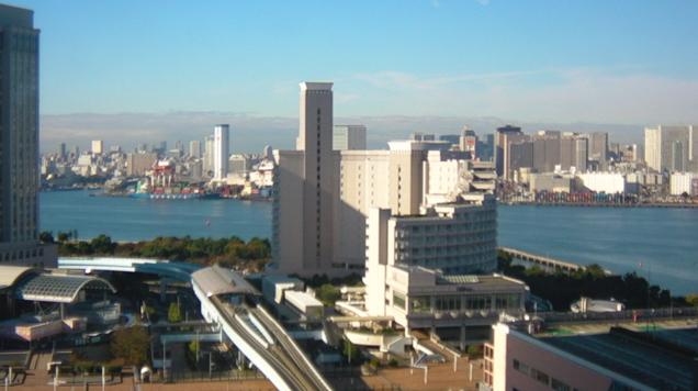 フジテレビからホテル日航東京方面