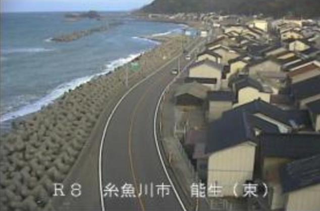 糸魚川市能生から国道8号