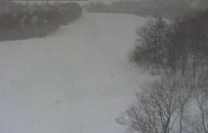 札幌国際スキー場ゲレンデ中腹地点