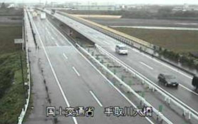 手取川大橋から国道8号・手取川