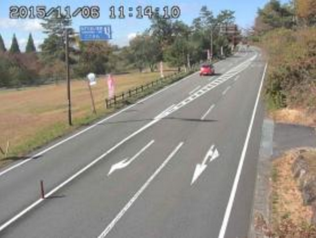 熊本県道阿蘇くじゅう公園線交差点付近から国道442号