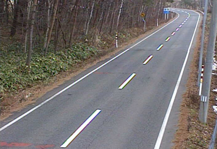 相ノ沢から岩手県道219号網張温泉線(滝沢から雫石方面)