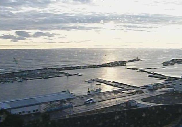 洋野町役場種市庁舎屋上から太平洋・種市漁港