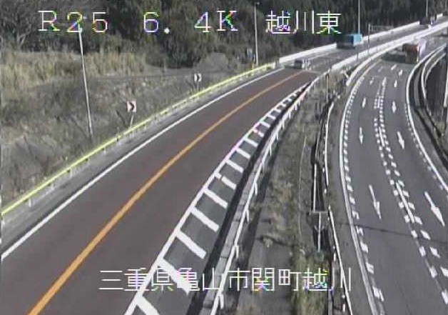 越川東から名阪国道(国道25号バイパス)