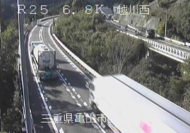 越川西から名阪国道(国道25号バイパス)