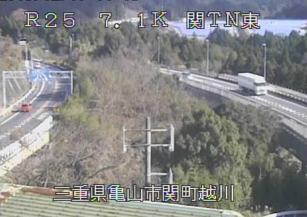 関トンネル東から名阪国道(国道25号バイパス)