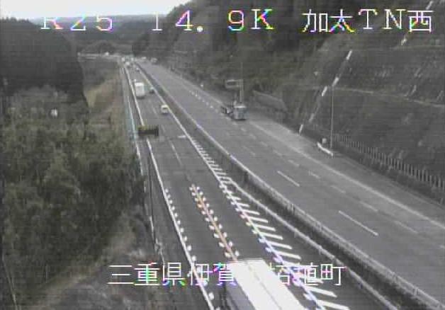 加太トンネル西から名阪国道(国道25号バイパス)