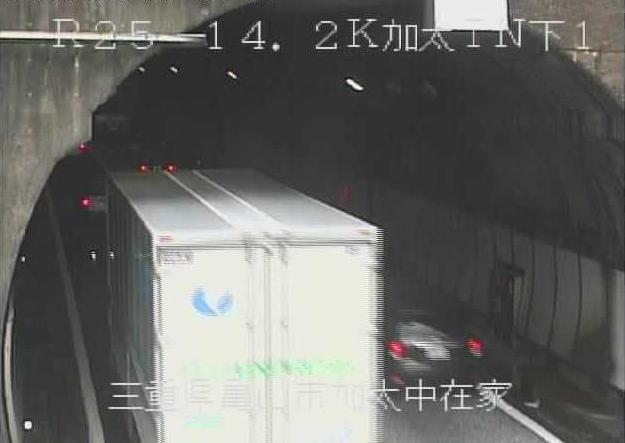 加太トンネル下りから名阪国道(国道25号バイパス)