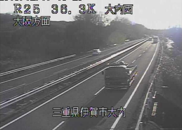 大内西から名阪国道(国道25号バイパス)