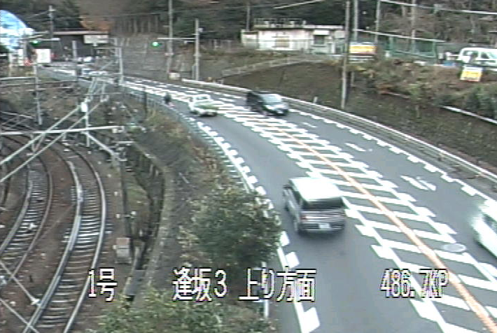 逢坂から国道1号