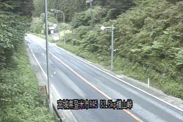 横山峠から国道45号が見えるライブカメラ。