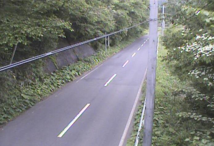 餅転から岩手県道49号栗駒平泉線(一関から衣川方面)が見えるライブカメラ。
