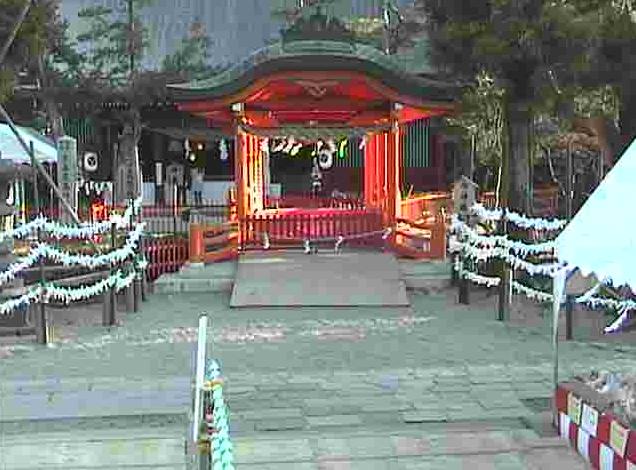 生島足島神社神楽殿から御神橋