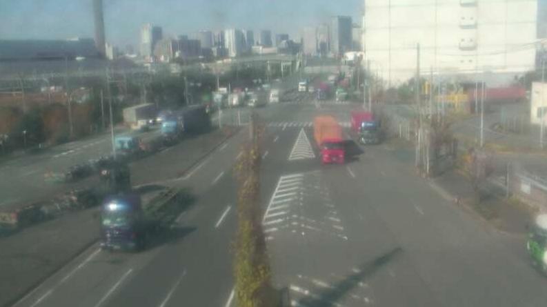 大井コンテナターミナルからアウトゲート前緑地帯