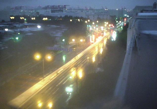 大井埠頭南部陸橋東詰交差点付近大井埠頭方面
