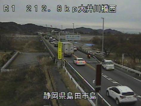 国道1号大井川橋西