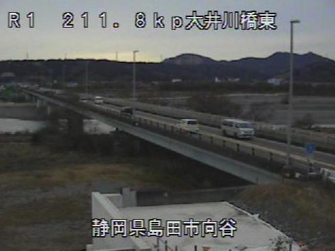 国道1号大井川橋東