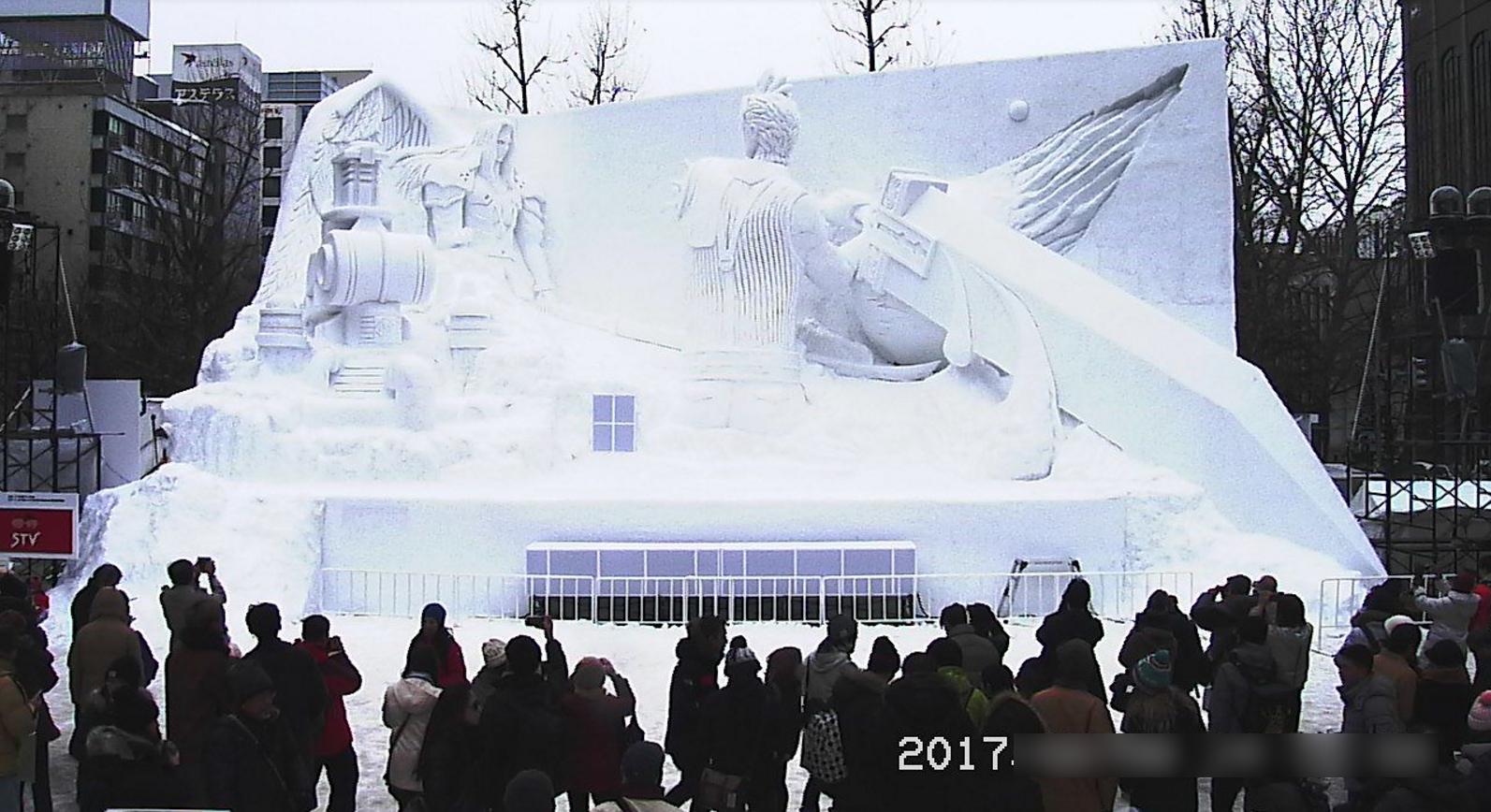 2017さっぽろ雪まつりSTV広場雪のファイナルファンタジー雪像ライブカメラ(北海道札幌市中央区)