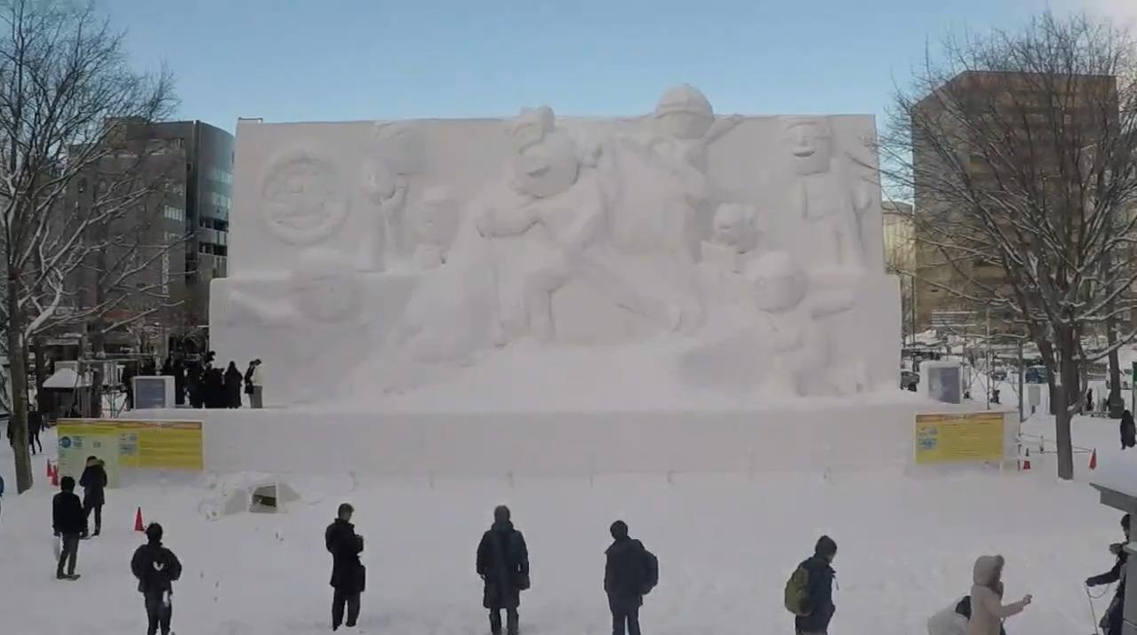 さっぽろ雪まつり2020UHBファミリーランド大雪像ライブカメラ(北海道札幌市中央区)